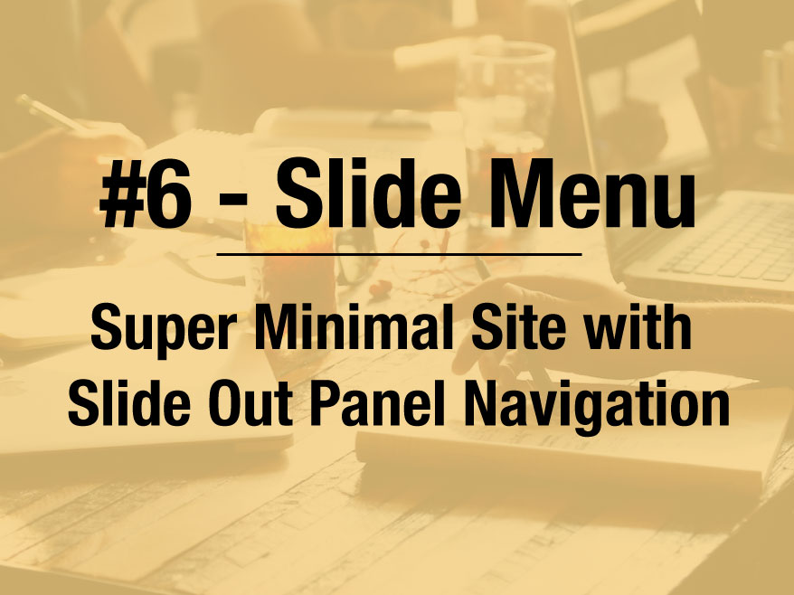 "Full ""Blank"" Slide Menu Site Template"