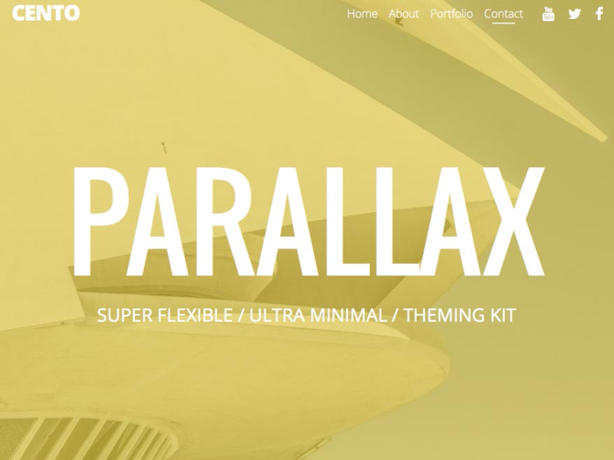 One Page Parallax Scroll Template